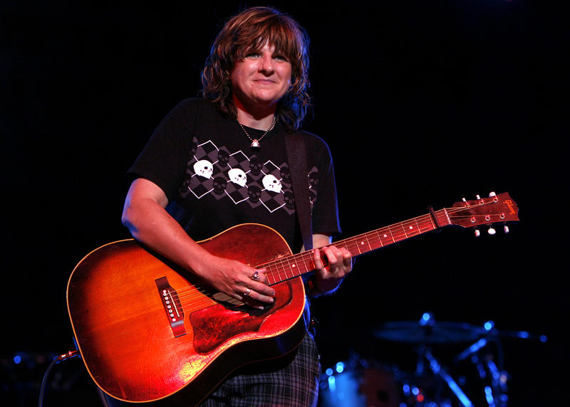 Amy Ray of The Indigo Girls performs during a stop on the True Colors Tour at Radio City Music Hall Tuesday, June 3, 2008 in New York.