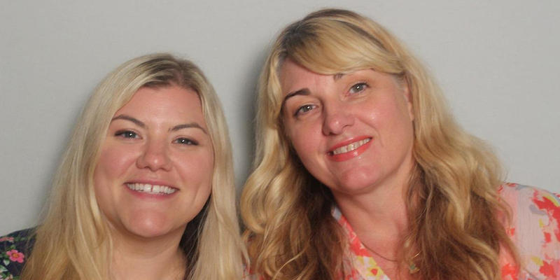 Jessica Wals and Cindy Gilmore talked to each other in the StoryCorps Atlanta booth.