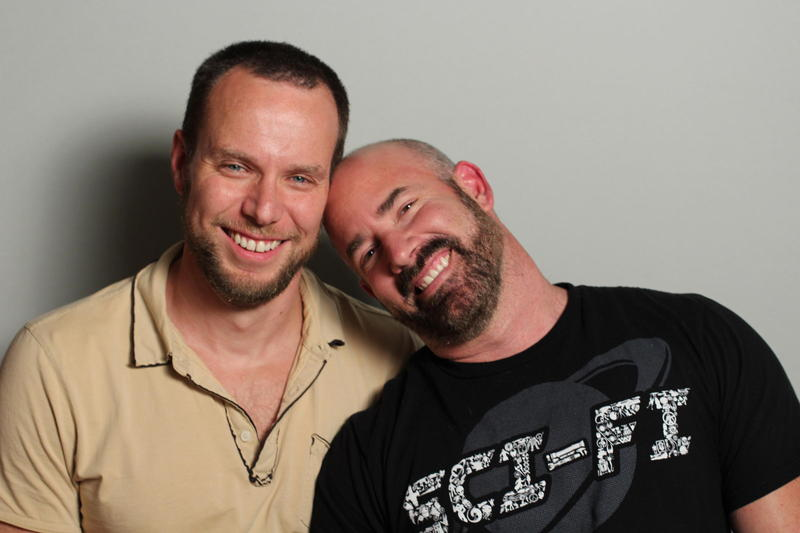 Sean Lanoue and ''Neon'' John Douglass at StoryCorps Atlanta.