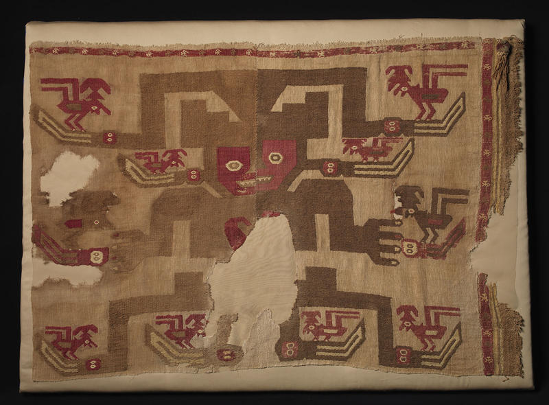 ''Textile with Pelican Shaman'' is one of the pieces as part of the Carlos Museum's new exhibition ''Threads of Time: Tradition and Change in Indigenous American Textiles.''