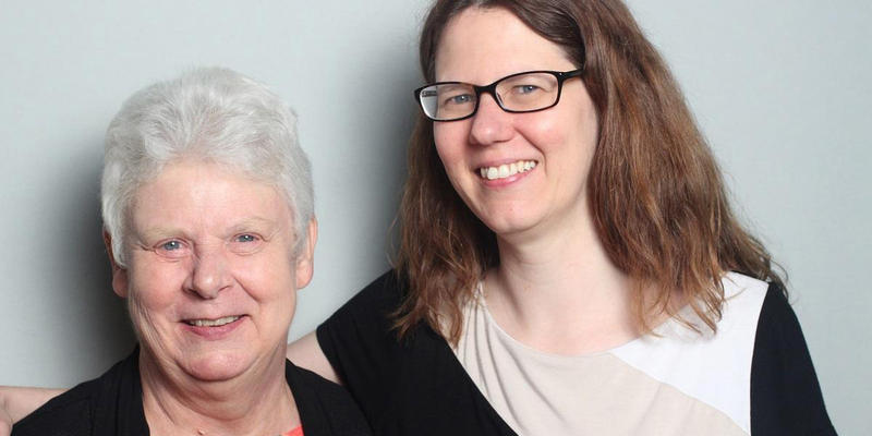 Janette Pratt talked with her daughter, Francis Mulderig, in the StoryCorps Atlanta booth.