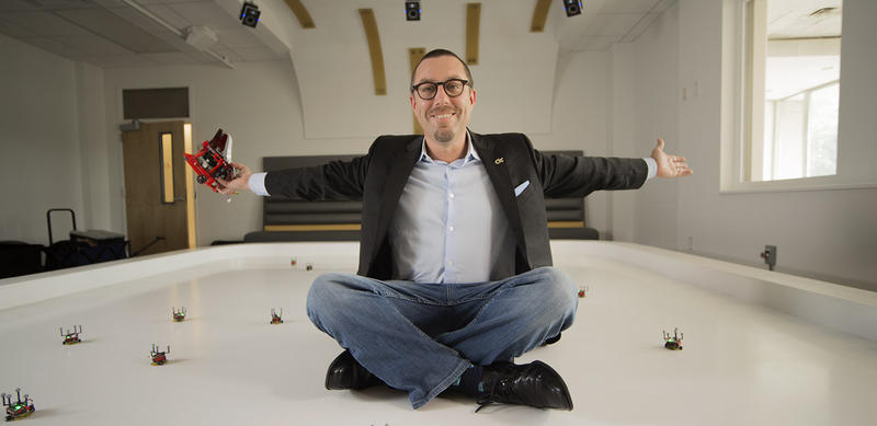 Magnus Egerstedt is executive director for the Institute for Robotics and Intelligent Machines at Georgia Tech and founder of the Robotarium.