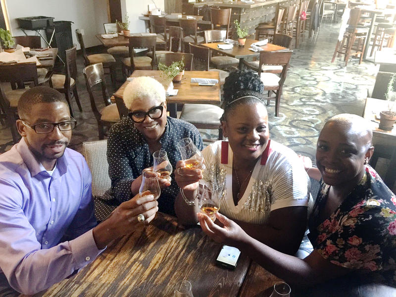 Antoine McNeal, Taste of Soul Atlanta founder; Chef Deborah VanTrece, executive chef and owner of Twisted Soul Cookhouse & Pours; Chef Jennifer Hill Booker; and award-winning mixologist Tiffanie Barriere.