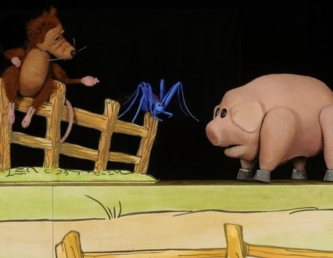 """E.B. White's """"Charlotte's Web"""" opens at the Center for Puppetry Arts."""