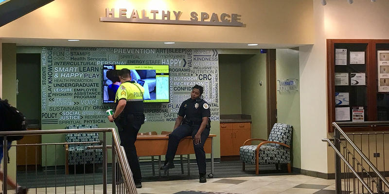 An online fundraiser for two Georgia Tech campus officers who sustained minor injuries during a protest raised more than $10,000 in just a few days last week.