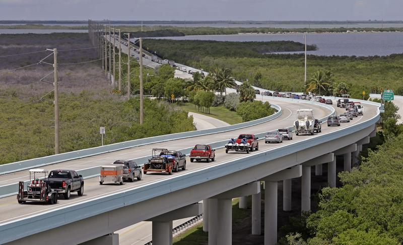 Motorists headed north of Key Largo, Florida, in anticipation of Hurricane Irma. Keys officials announced a mandatory evacuation Wednesday for visitors, with residents being told to leave the next day. Georgia is also preparing for the storm.