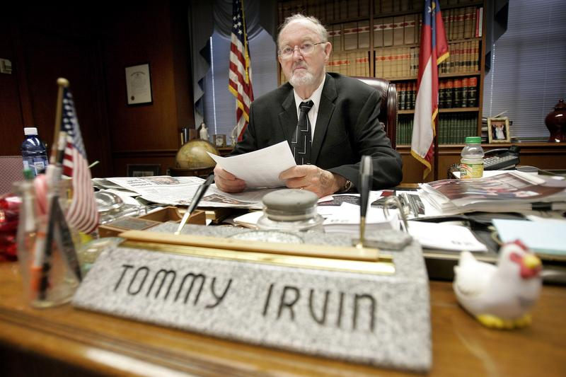 Tommy Irvin, shown in 2009, was first appointed Georgia's agriculture commissioner in 1969. For most of his career, Irvin was both the promoter and safety regulator of agriculture, Georgia's largest industry.