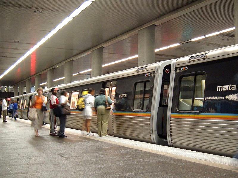 MARTA North Avenue station in Atlanta
