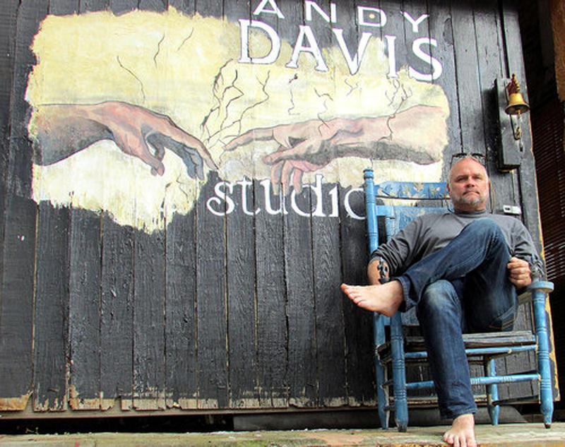Sculptor Andy Davis