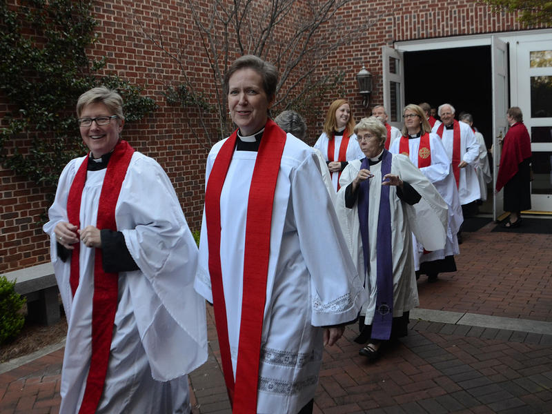 The clergy prepare to renew their vows at The Temple in Atlanta, Georgia on Tuesday, March 31, 2015.