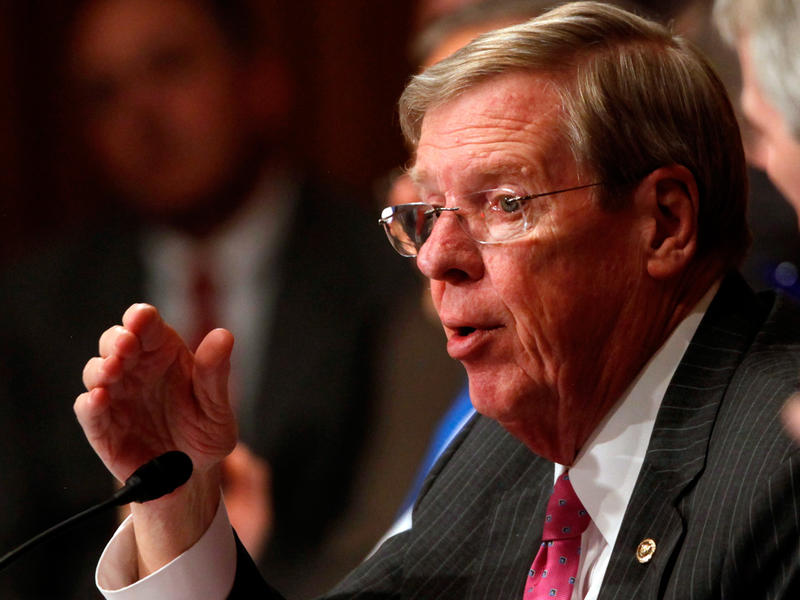 Sen. Johnny Isakson told Morning Edition's Denis O'Hayer that he is still deciding how he will vote on the GOP's latest efforts to repeal and replace the Affordable Care Act.