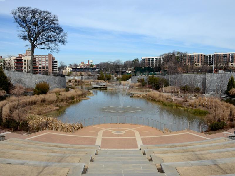 Retention pond at Historic Fourth Ward Park in Atlanta, Feb. 3, 2015