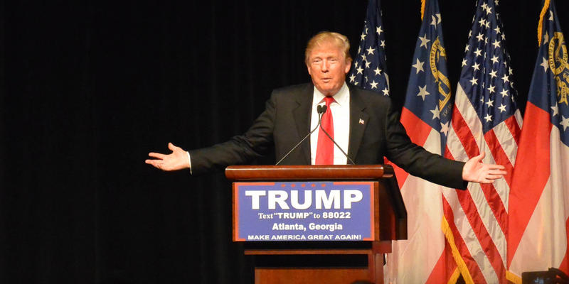 Donald Trump rallies supporters in Atlanta.
