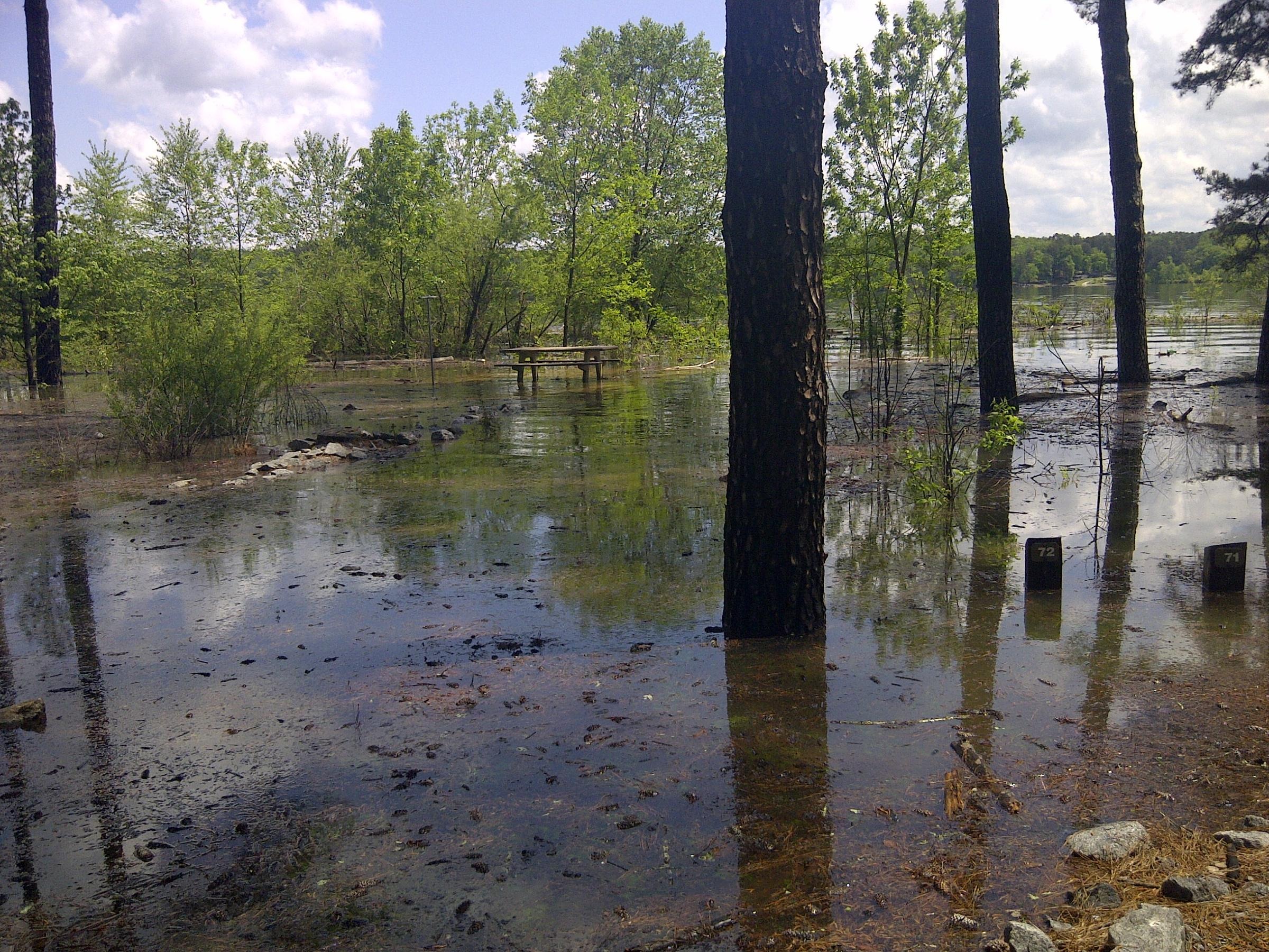 Lake Allatoona Flooding Shuts Down Area Campsites, Boat