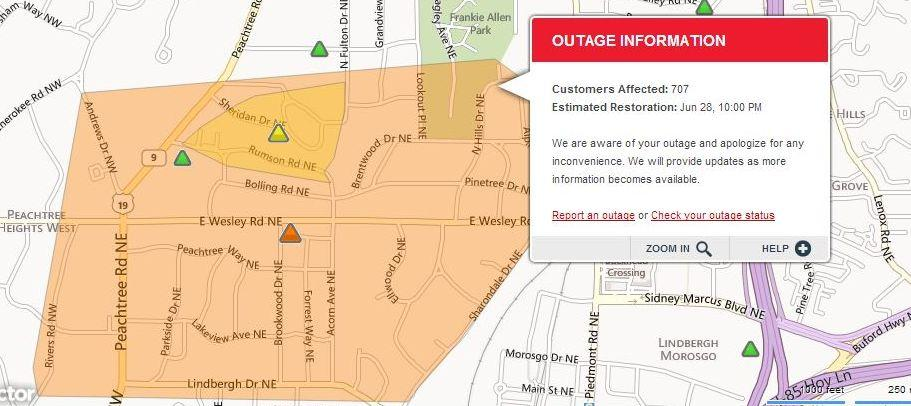 Lights Out Check Georgia Power S New Interactive Outage Map Wabe 90 1 Fm