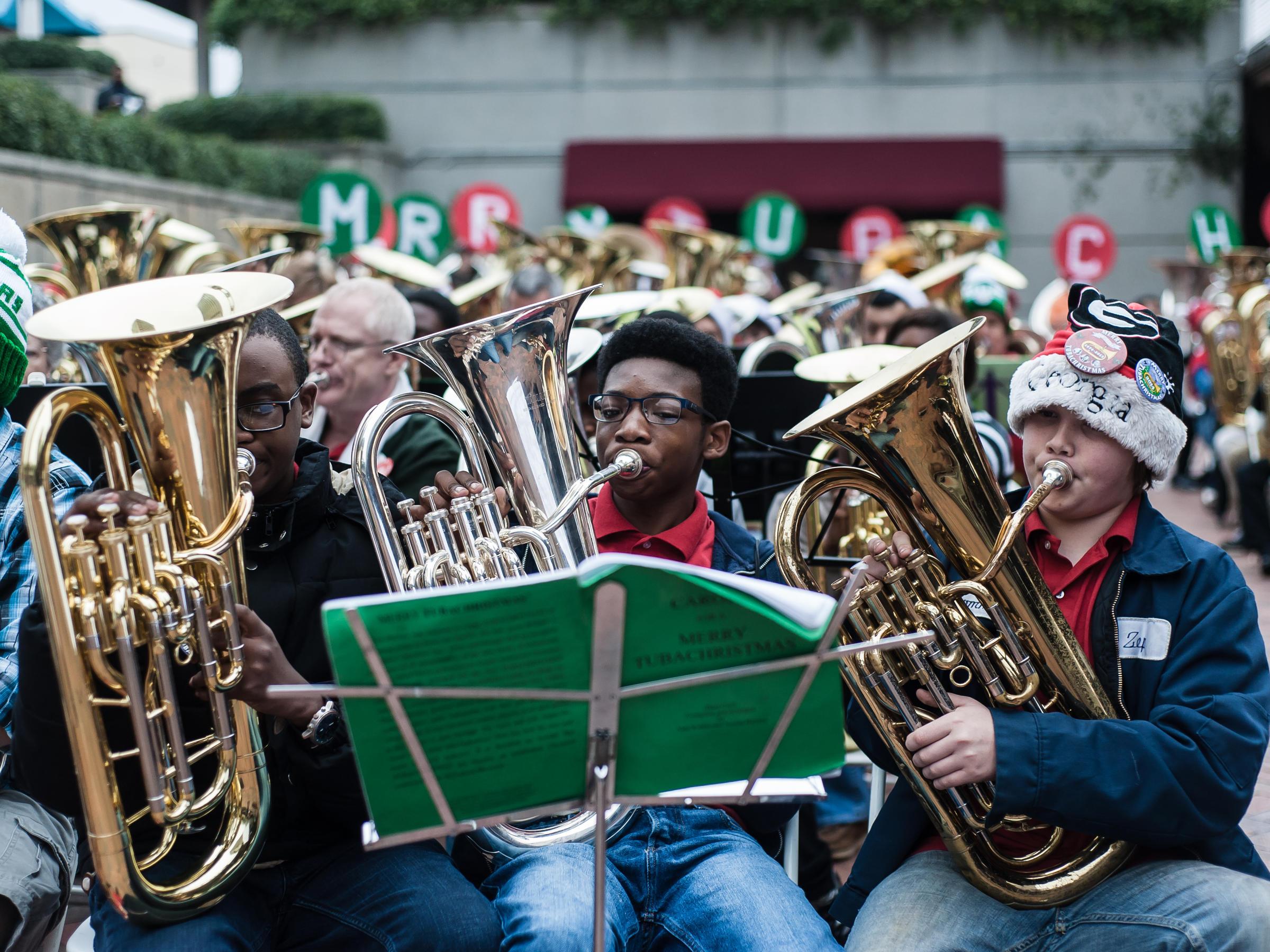 Tuba Christmas.At Tuba Christmas Low Brass Gets The Spotlight Wabe 90 1 Fm