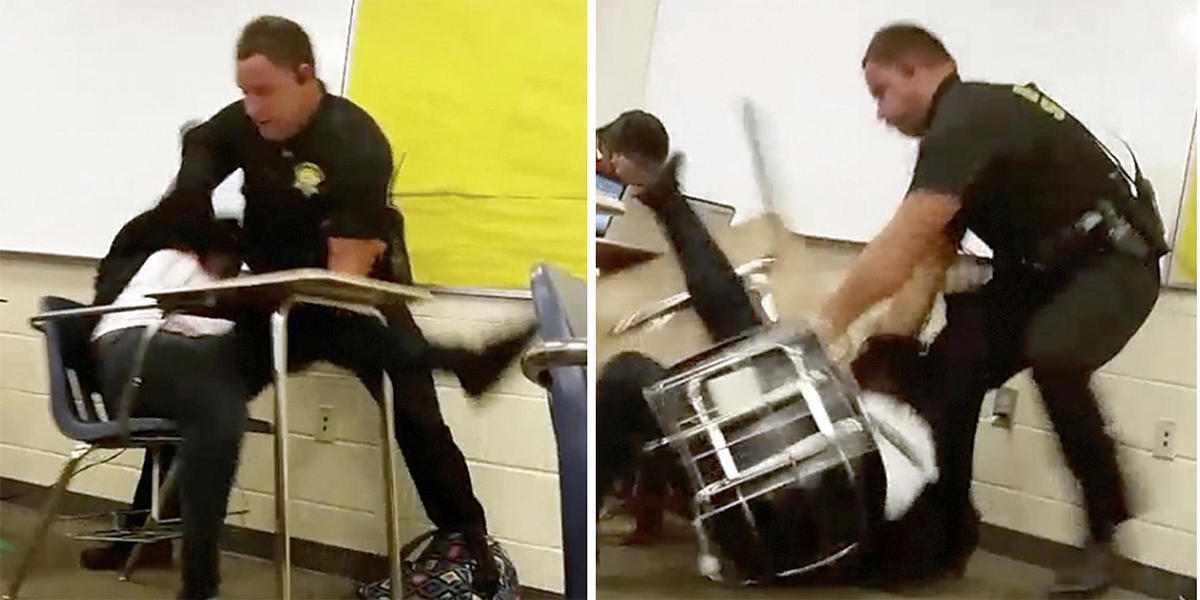 S C  Sheriff's Deputy Is Fired After Review Of High School