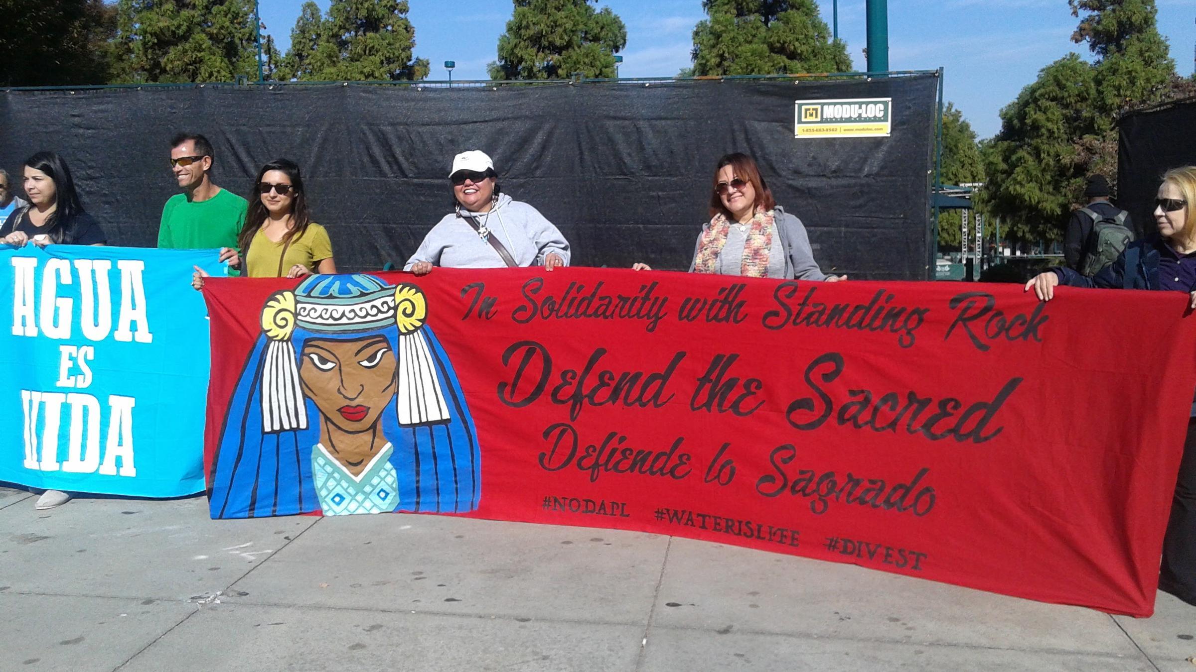 Atlantans March To Protest Dakota Access Pipeline Project