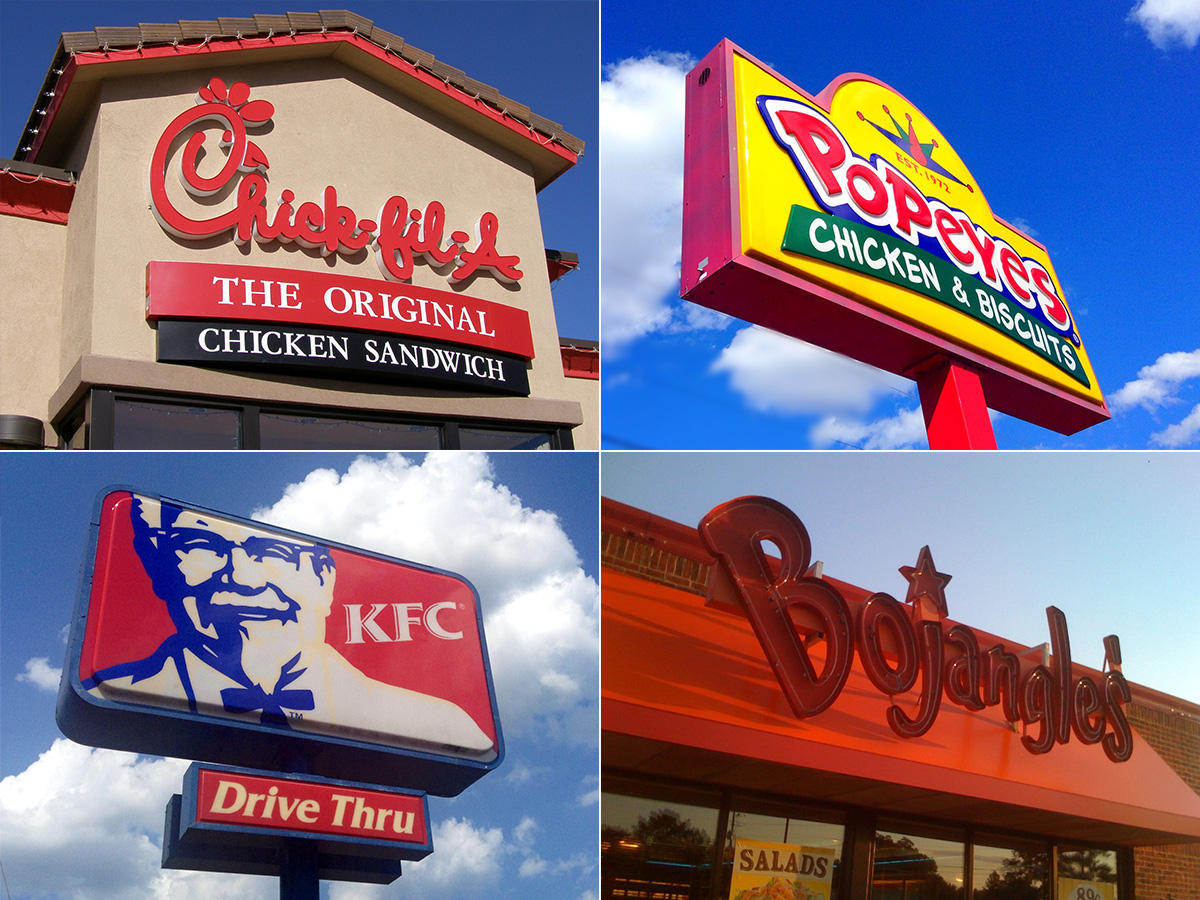 Atlanta Is Home To Over 280 Fast Food Chicken Restaurants
