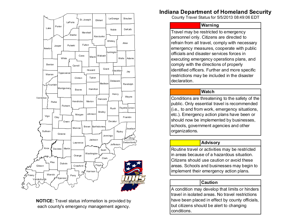 New Mobile App Alerts Drivers To Travel Hazards In Indiana ... on greene county arkansas township map, sullivan county new york state map, clark county illinois plat map, indiana road construction map, indiana dunes national park map, indiana travel advisory, indiana weather alert map, unincorporated clark county nv map, status in county map, tippecanoe county plot map, randolph county missouri township map, clark county wi map, indiana interstate 65 mile markers map, indiana cities map, indiana department of homeland security map, indiana travel warnings, indiana highway map printable, indiana county snow emergency status, current indiana weather map, indiana county maps with roads,