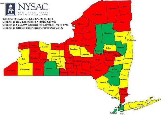 Nyc Sales Tax >> With Red Flag Raised On New York S Sales Tax Revenue Economists