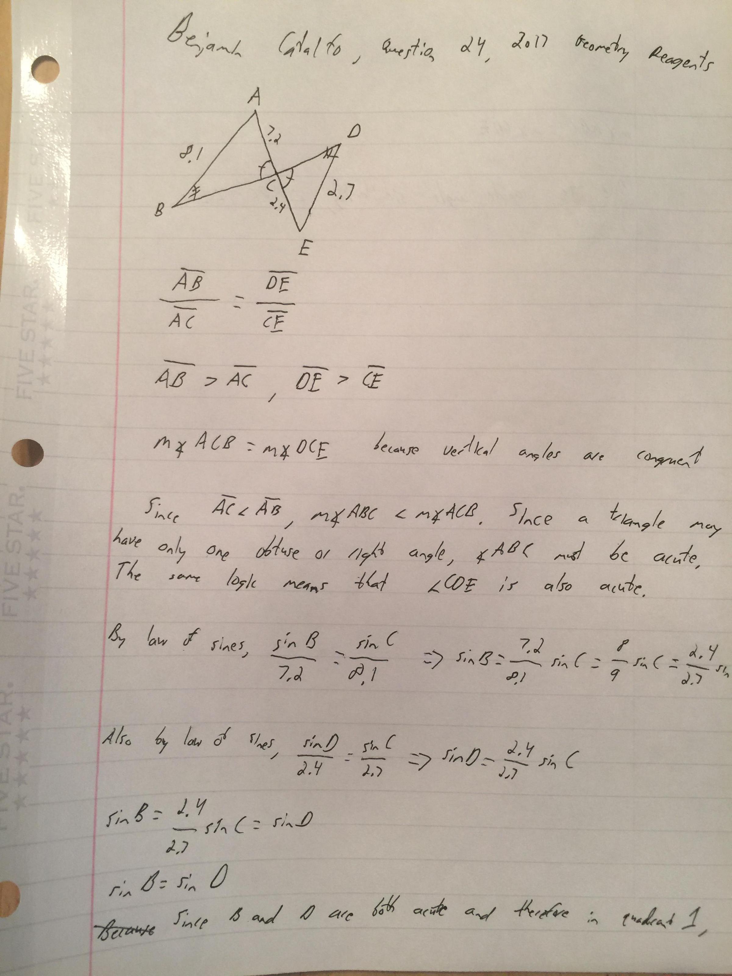 Teen discovers mistake on geometry Regents | WBFO