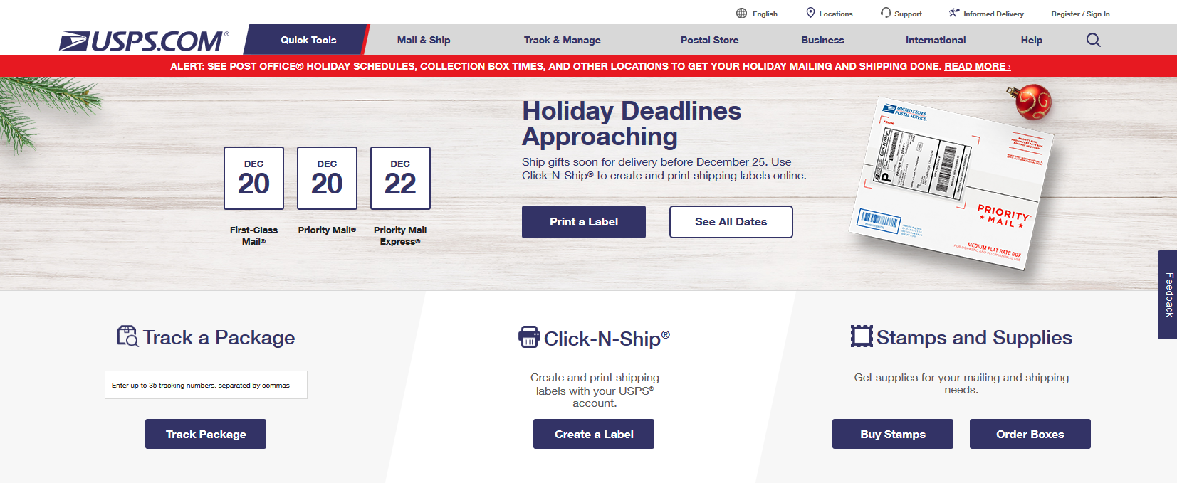 Time is running out to mail your holiday gifts | WBFO