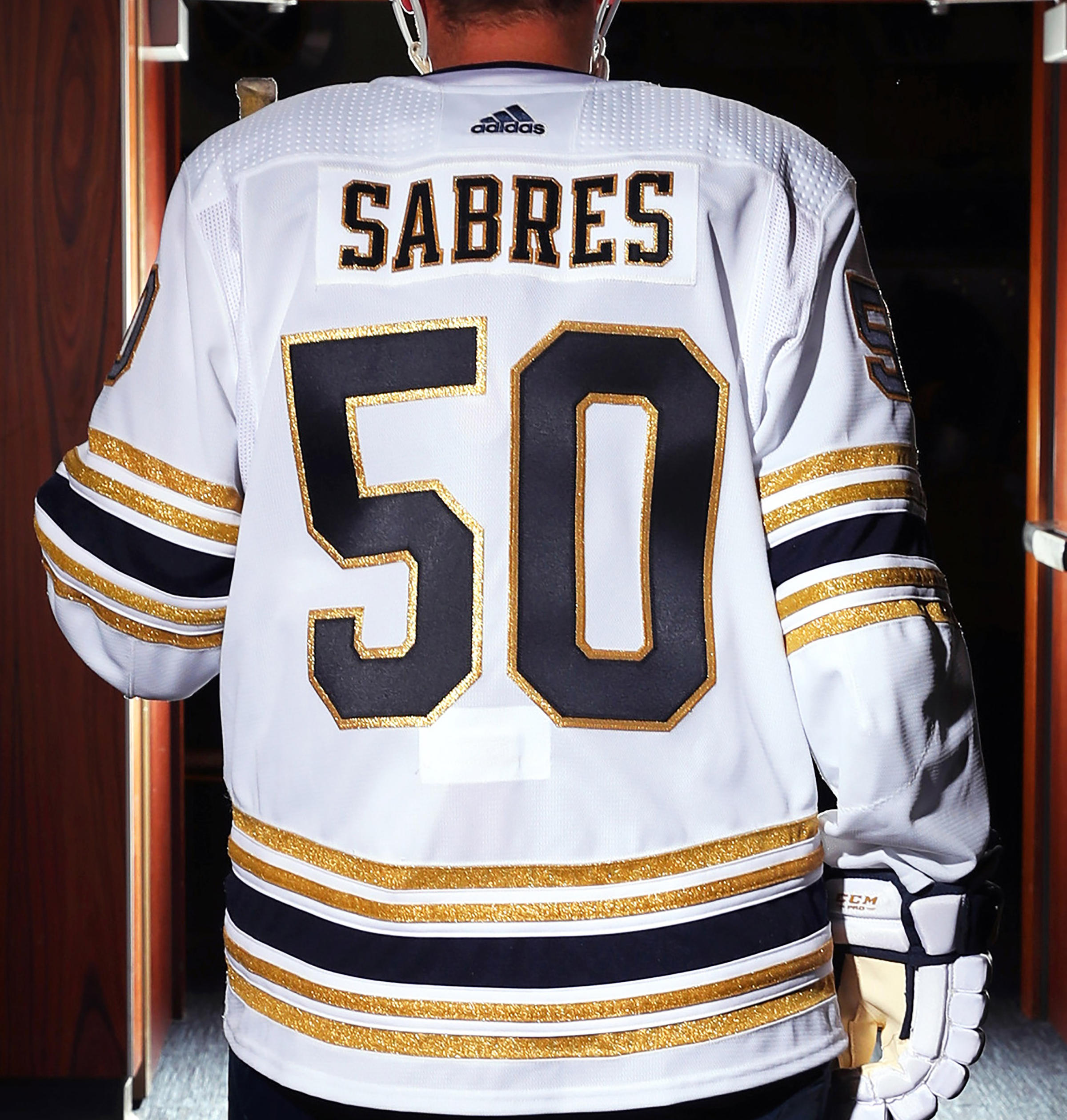 premium selection 9f768 27f59 Sabres unveil 50th anniversary Golden Jersey | WBFO