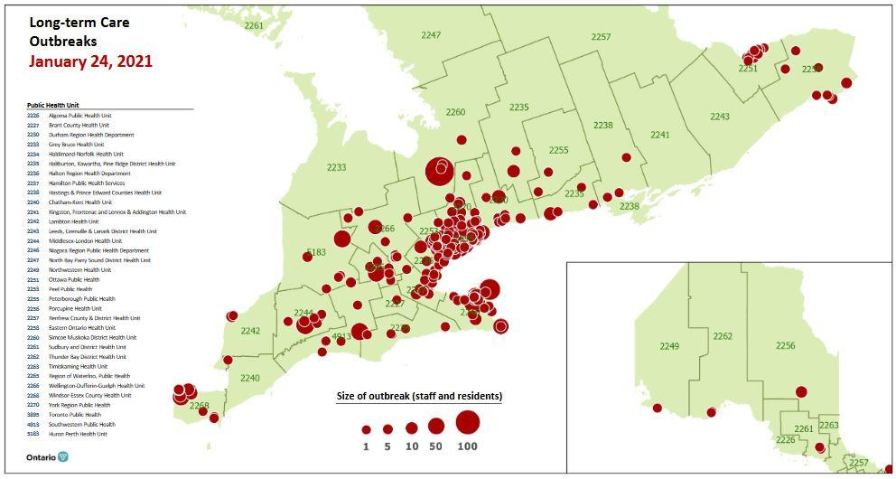 Ontario reports under 2000 new COVID-19 cases to start February