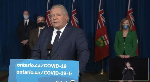 Ontario Premier Doug Ford announces the new shutdown due to the