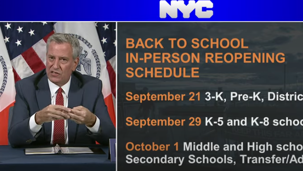 Person Learning Delayed for Most NYC Public School Students