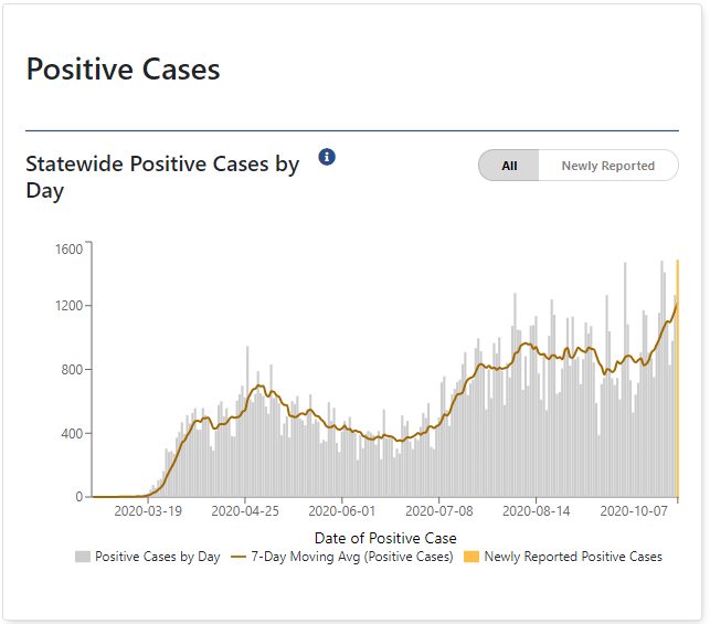 New State Record For Positive COVID-19 Tests, Positivity Rate Higher