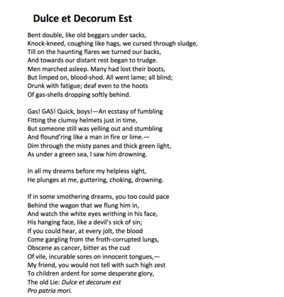 Poetry Sunday Wilfred Owen Wcai