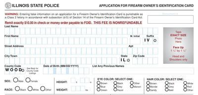 photograph relating to Printable Foid Card Application identify A gap inside of Il FOID legislation Peoria Community Radio