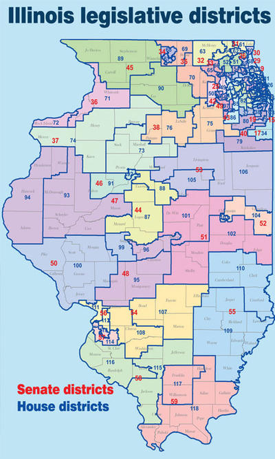 A push to change legislative district drawing in IL | Peoria ... Il State Legislature District Map on il general assembly district map, il government district map, mn legislature district map, il house district map, il senate district map, il county district map, il congressional district map,