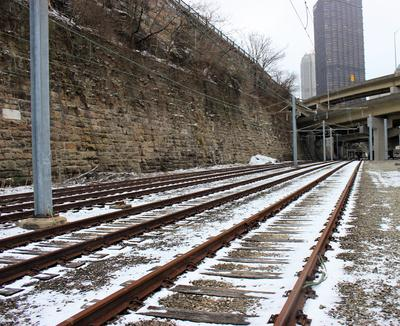 Where Do The Abandoned Third Set Of Tracks At Steel Plaza