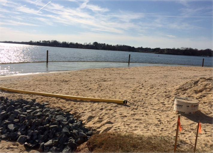Workers Have Put Sand On A Half Acre Of Ramsey Creek Park Where Swimming Will Be Open This Spring