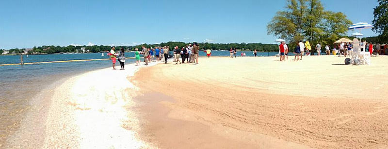 Ramsey Creek Park S New Beach Opens Saay