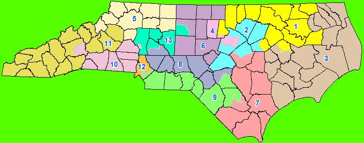 Us Supreme Court To Hear North Carolina Gerrymandering Case Wfae - North-carolina-map-us