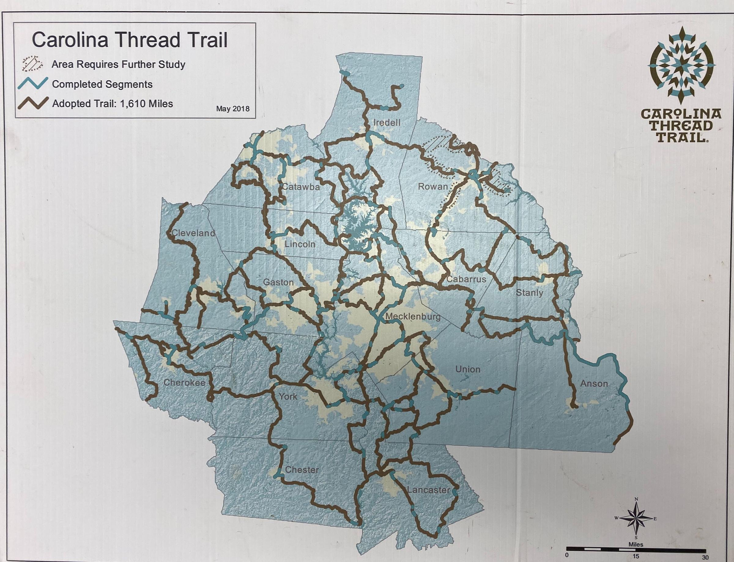 More Carolina Thread Trail Miles Open In 2019 -- But There's ... on plan view trail, westward trail, thornton lake trail, grading plan trail, fork in the trail,