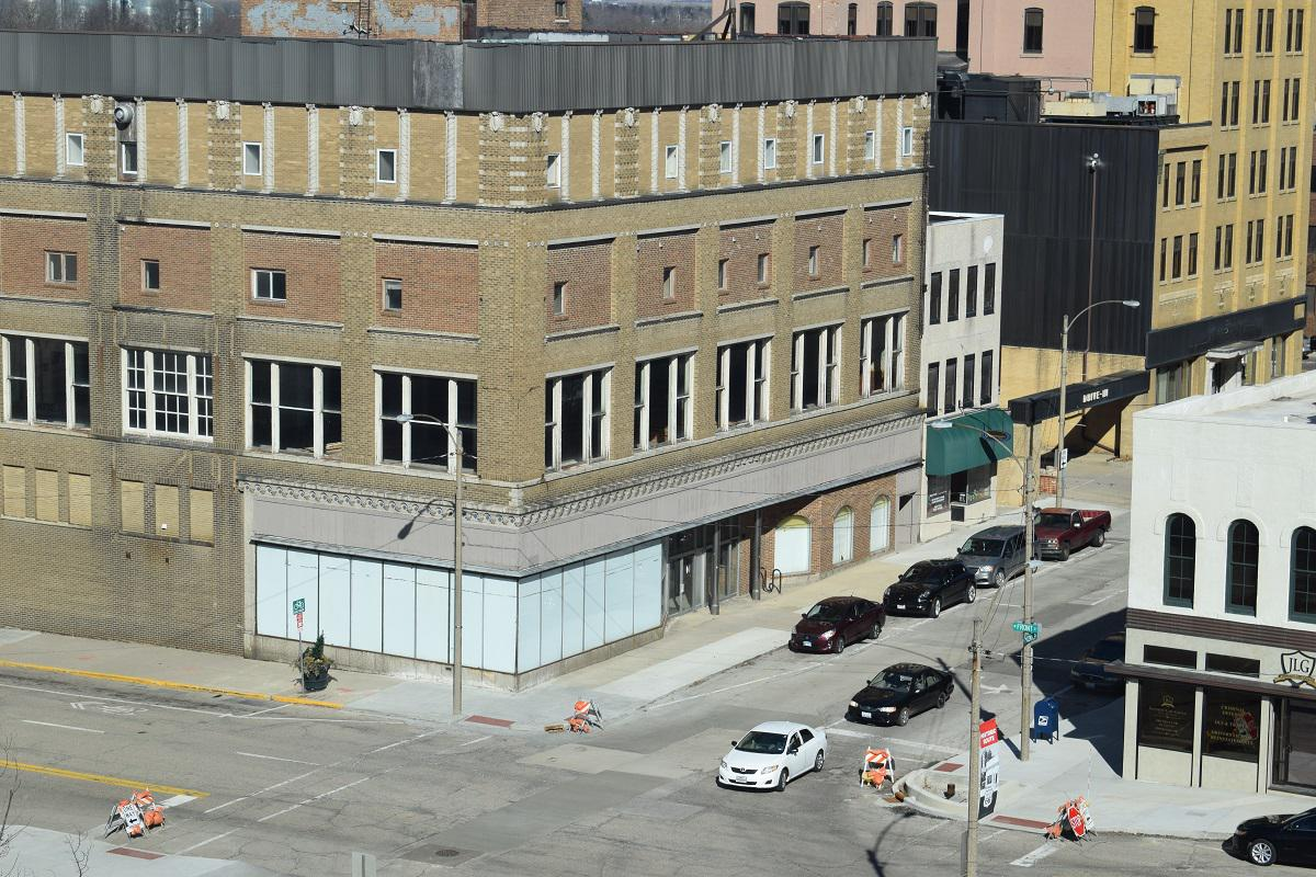 The vacant Front N Center building remains an eyesore in the heart of Downtown Bloomington.