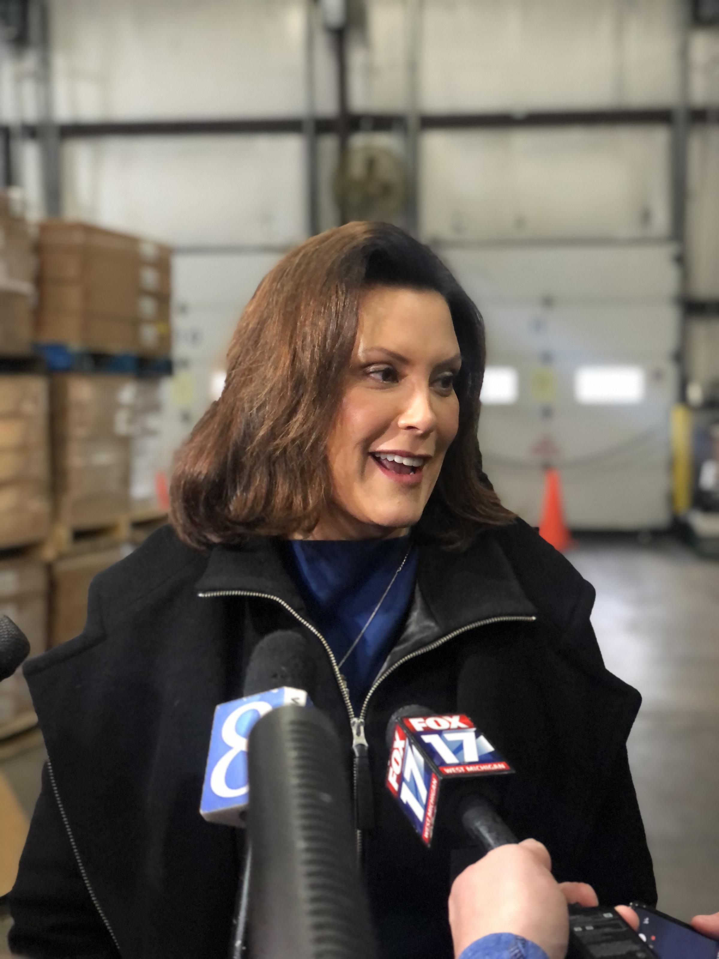 Governor Whitmer Celebrates Ham Donation For Those Struggling With Food Insecurity In West Michigan Wgvu