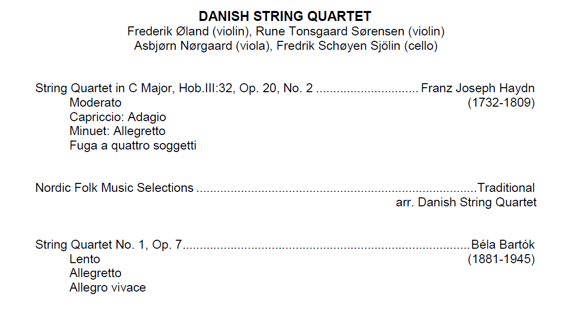 Classical IPR in Concert: Danish String Quartet | Interlochen