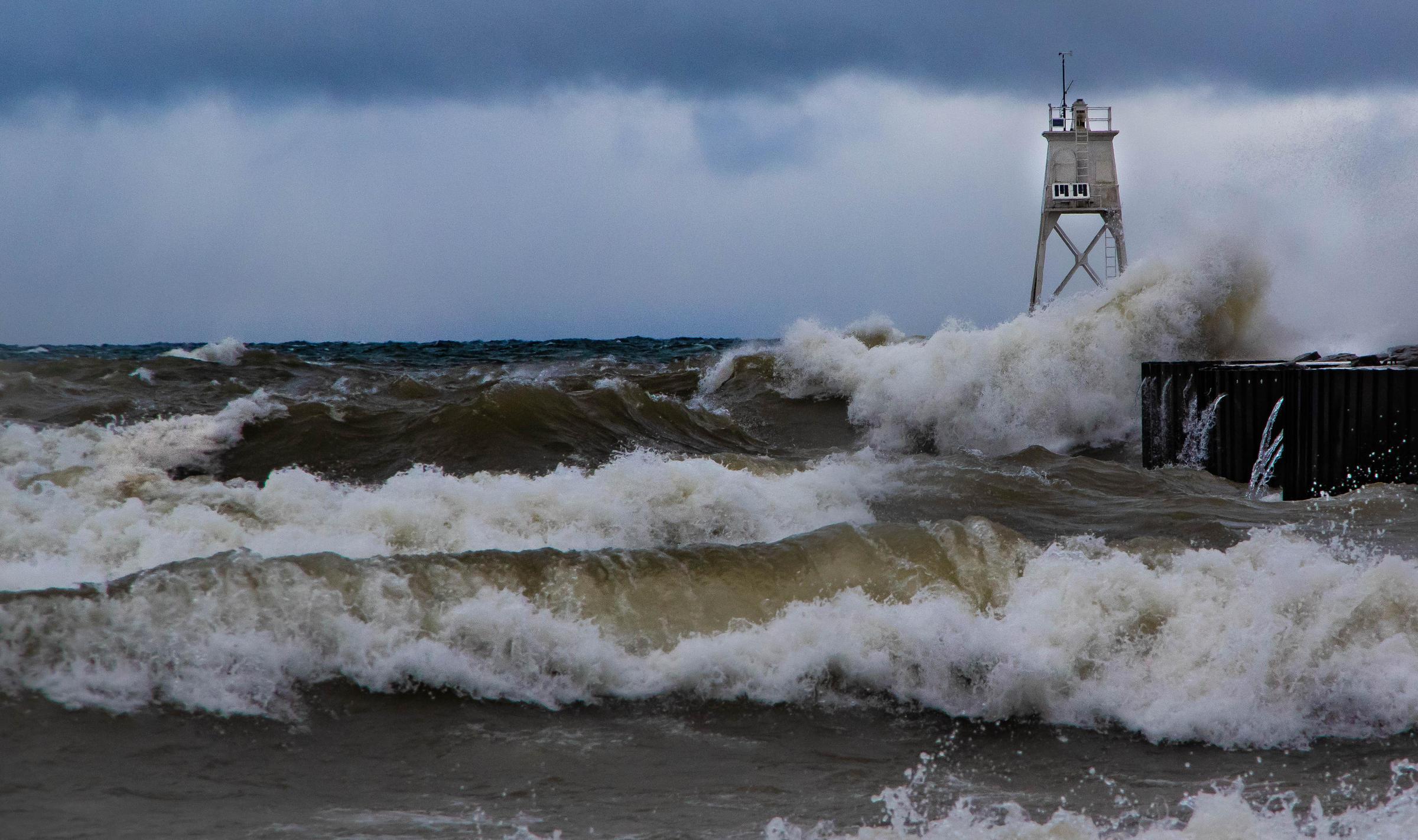 Gale Force Winds Blast Northern Great Lakes Interlochen