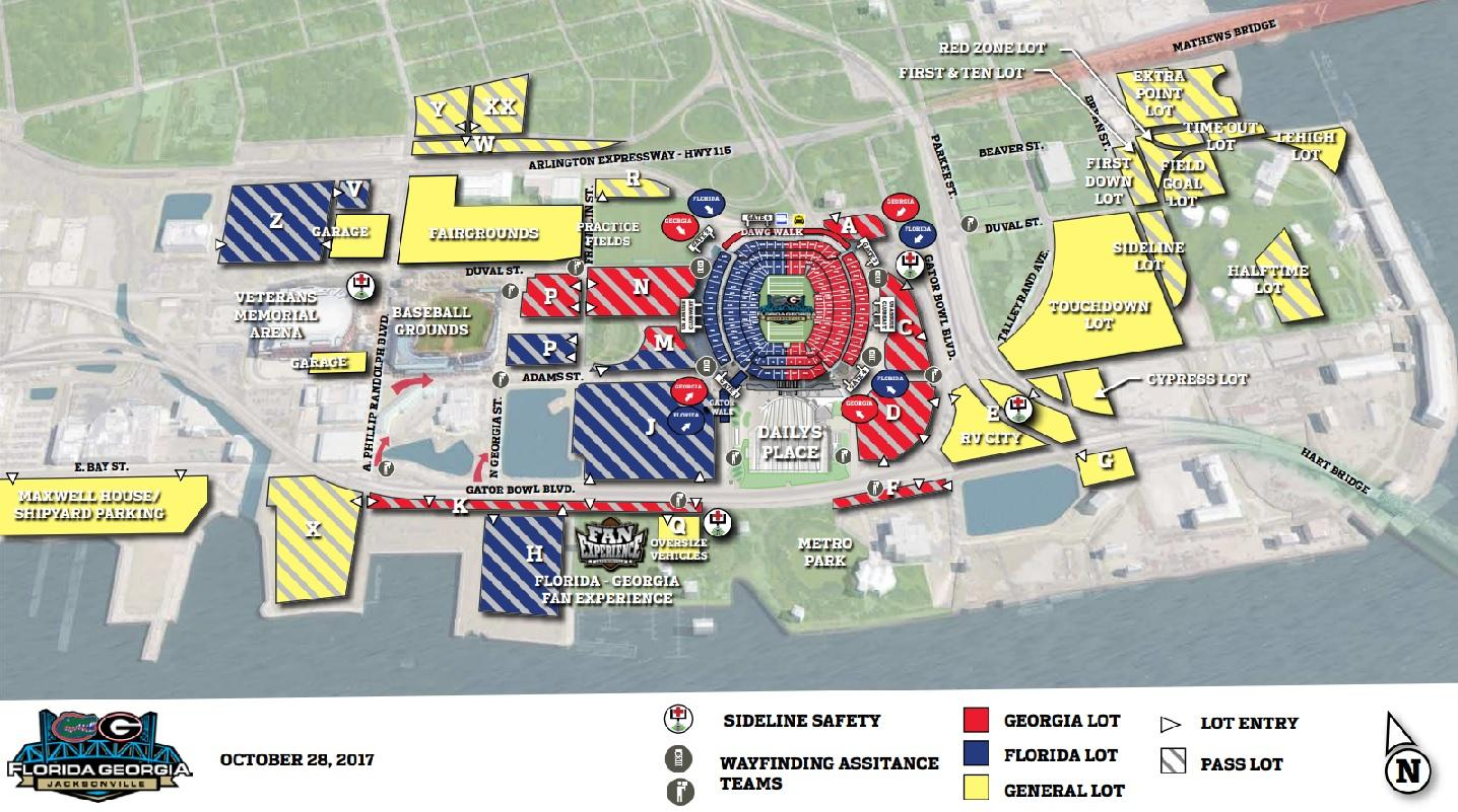 Everbank Field Parking Map Florida Georgia Game: What You Need To Know | WJCT NEWS