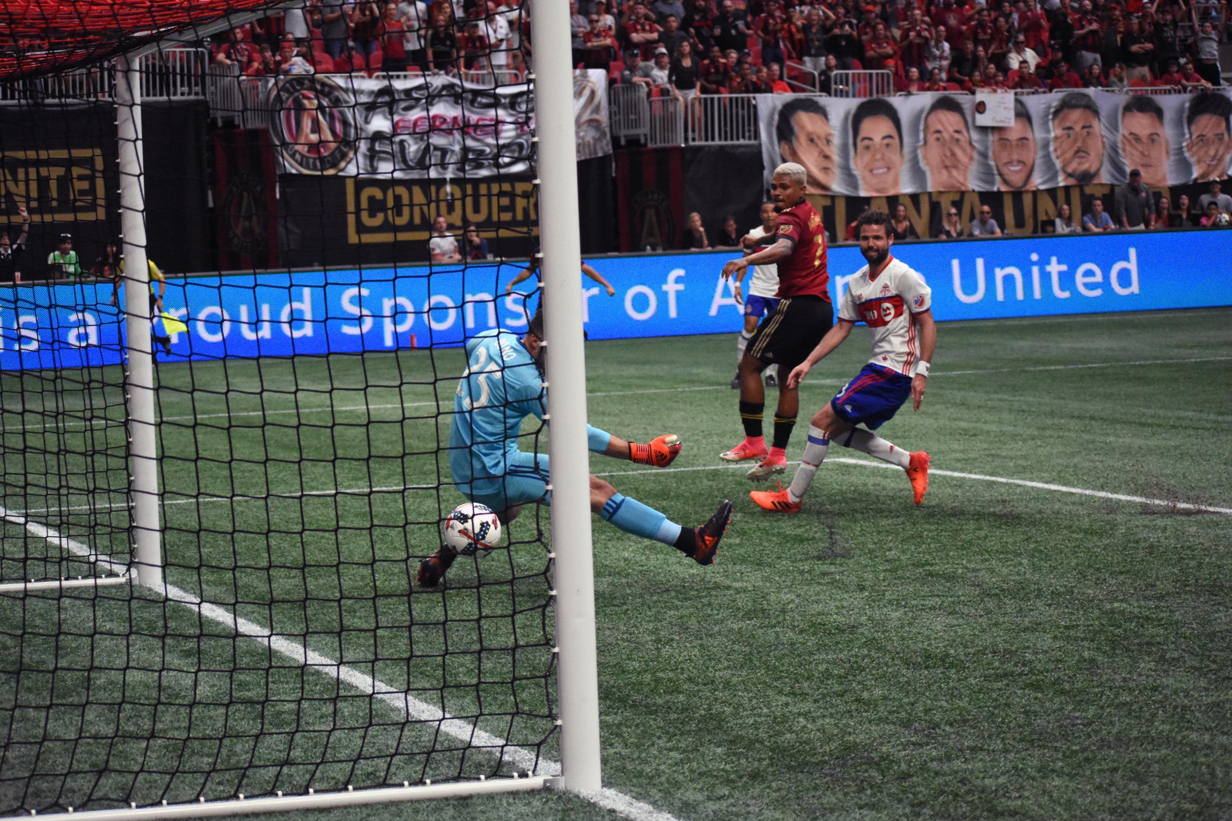 quality design aae53 ae8c7 Atlanta s Josef Martinez (7) scores the go-ahead goal against Toronto FC.