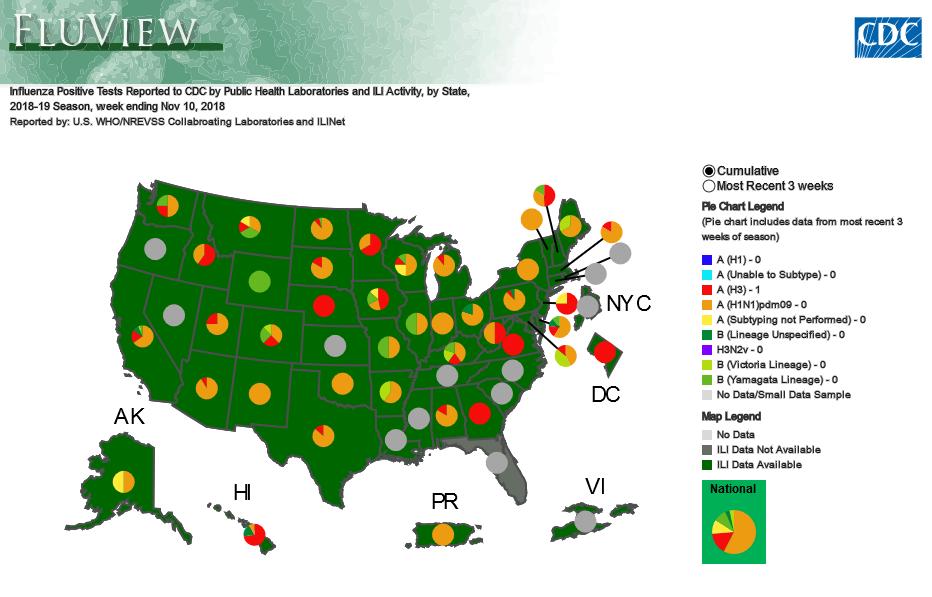Georgia Tops Nation In Flu Symptoms 2nd Week In A Row Georgia