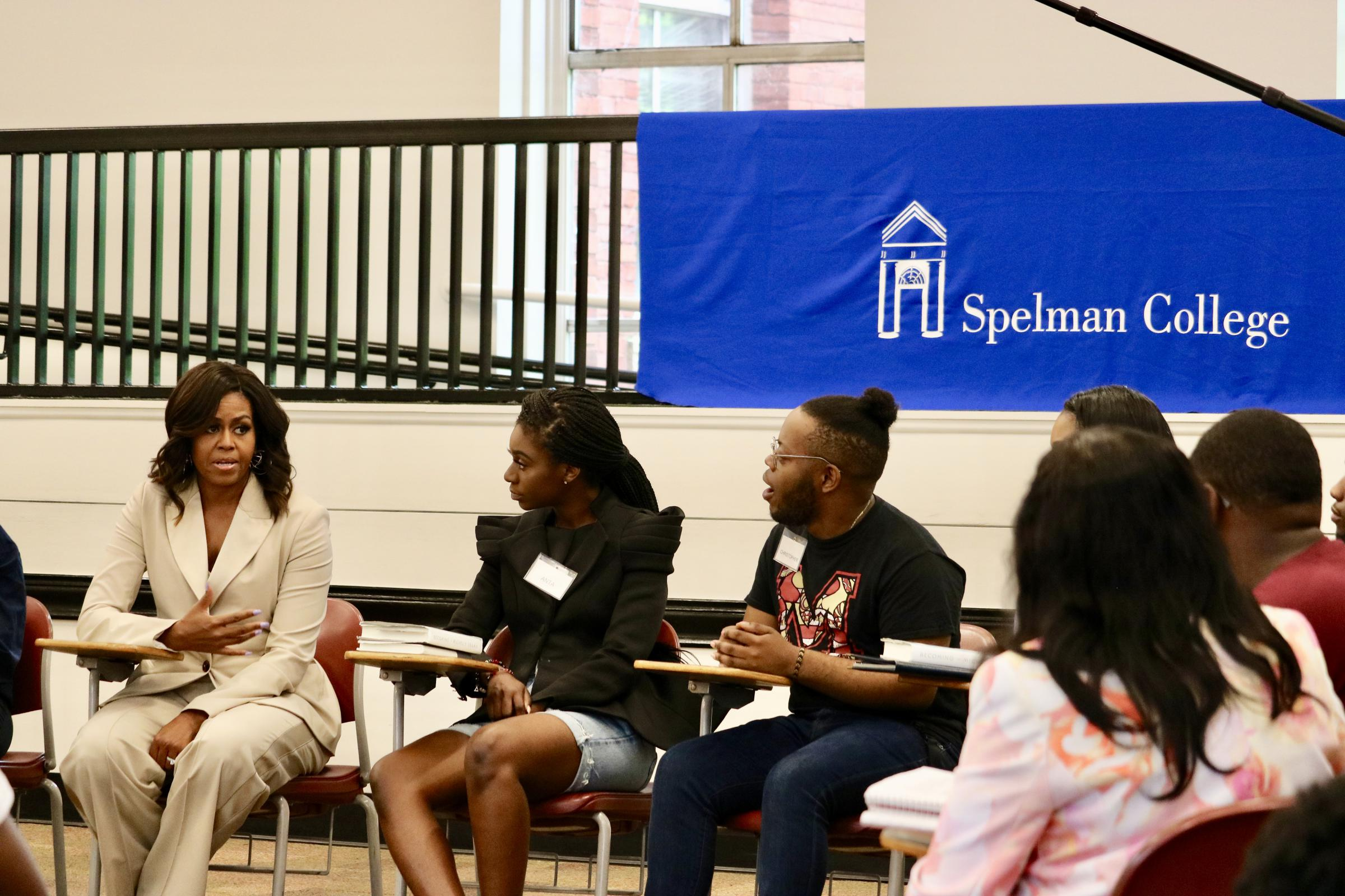 Michelle Obama Surprises Spelman Students Who Studied 'Becoming