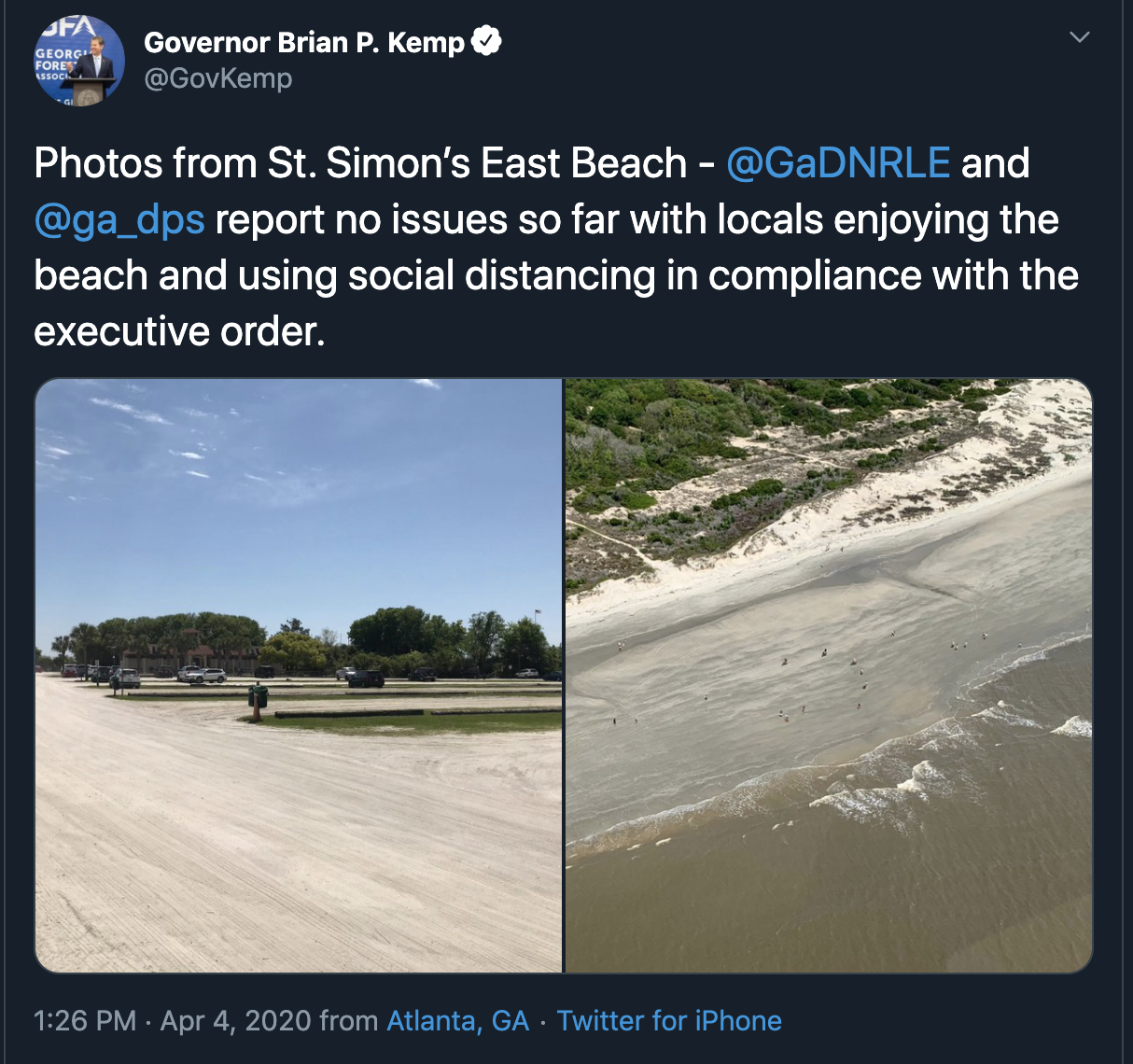 Tybee Island Beach: Tybee Island Mayor: 'Do Not Support' Governor's Decision