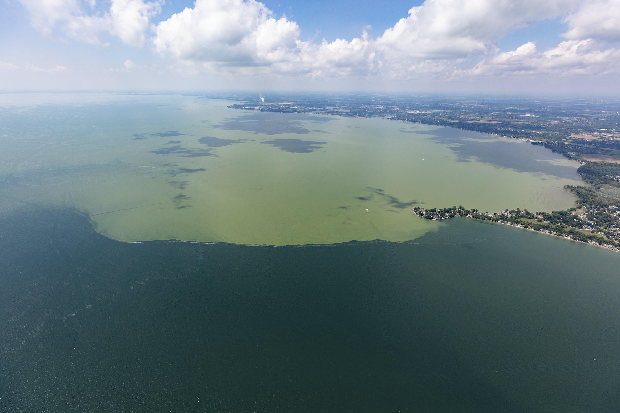 Lake Erie 2019 harmful algal bloom | credit Zachary Haslick, Aerial Associates Photography Inc.